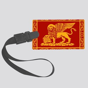 venetian flag rug Large Luggage Tag